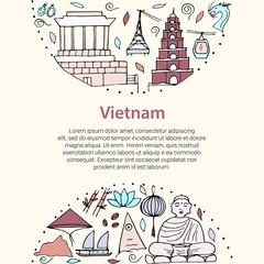 Vector stylizedsymbols of Vietnam.