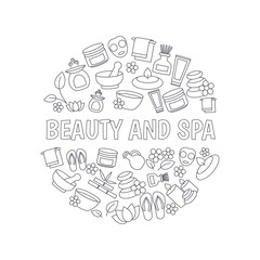 Beauty and spa design concept.