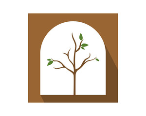 dead tree leafless plant fall image vector icon