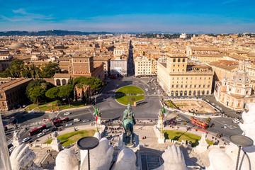 Rome Venice Plazza as seen from above (Piazza Venezia)