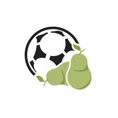 Fruit Soccer Logo Icon Design