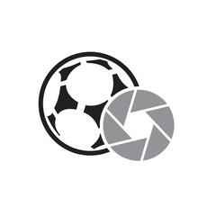 Lens Soccer Logo Icon Design
