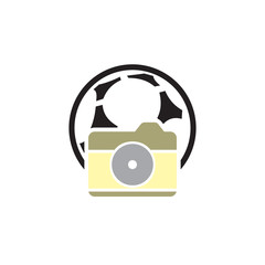Camera Soccer Logo Icon Design