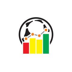 Stats Soccer Logo Icon Design