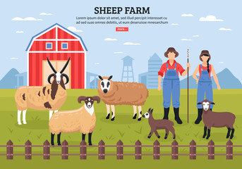 Sheep Farm Poster