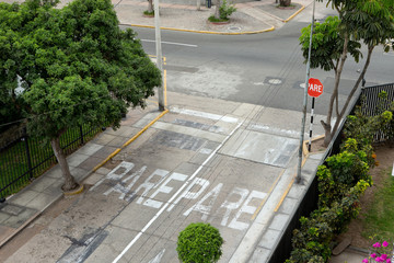City of Lima. peru. Crossroads