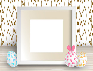 3d Vector Realistic Square Frame