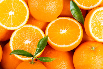 Wall Mural - Background from orange fruits.