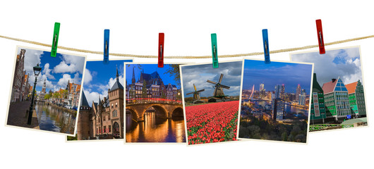Netherlands travel images (my photos) on clothespins
