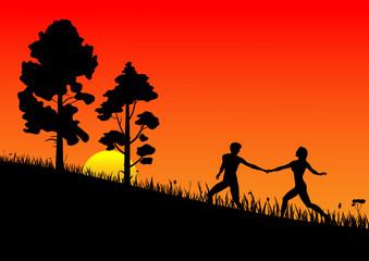 boy_girl_and_sunset