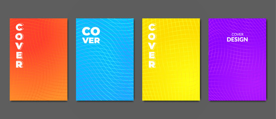 Bright vivid poster templates. Abstract colorful background for design