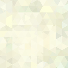 Background of white, beige, yellow geometric shapes. Abstract triangle geometrical background. Mosaic pattern. Vector EPS 10. Vector illustration