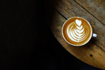 a cup of latte art