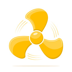 Fan icon in flat design. Vector illustration.