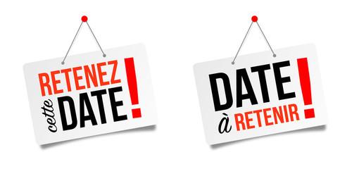 Retenez cette date / Date à retenir (Save the date)