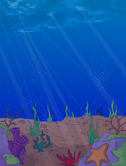 Under the sea vector background.