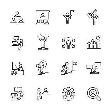 Business work icon set 2, vector eps10