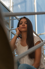 young woman tired of waiting