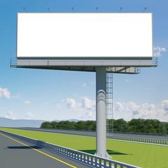 3d rendering blank billboard 02. 3d modeling