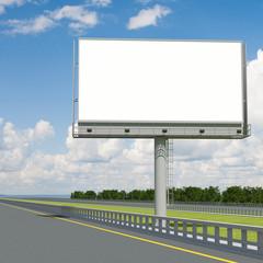 3d rendering blank billboard 03. 3d modeling