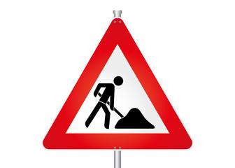 Straßenschild - Baustelle