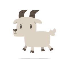 Cute goat cartoon vector
