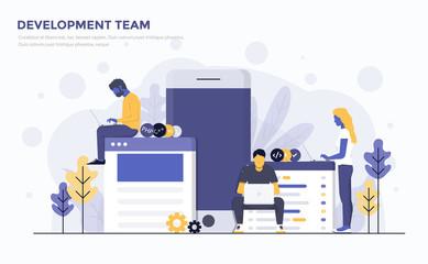 Flat Modern Concept Illustration - Development Team