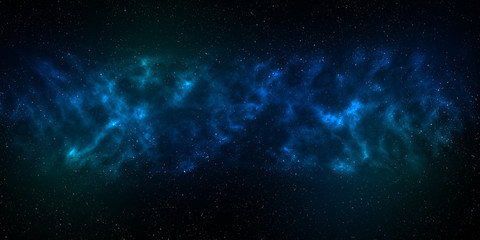 Infinite space background with nebula and stars. Using for Space star background or space concept
