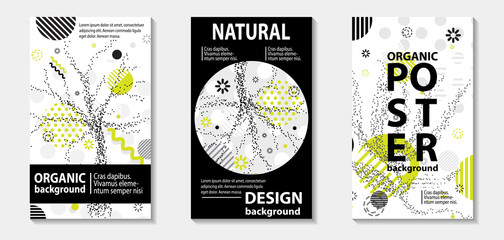 Trendy eco style template covers design. Vector illustration