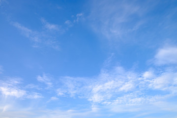 Background of a beautiful blue sky and clouds
