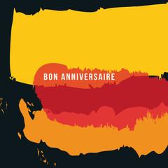 anniversaire - carte d'anniversaire - artistique - graphique - peinture - carte - invitation - bon anniversaire