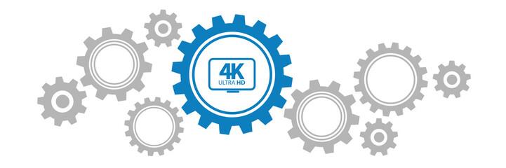 Zahnräder Banner - 4K Ultra HD