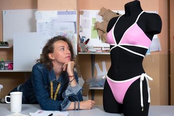 Designer clothes in the workshop