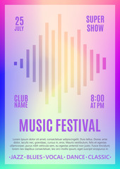 Festival poster. Music flyer. Carnival design. Template for poster, brochure, ticket, program event. Vector illustration
