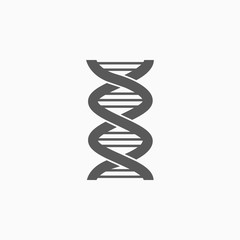 DNA icon, Deoxyribonucleic Acid vector