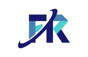 FR Ellipse Swoosh Ribbon Letter Logo