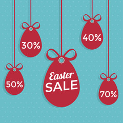 Happy Easter sale flat style.