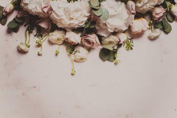 White flowers border