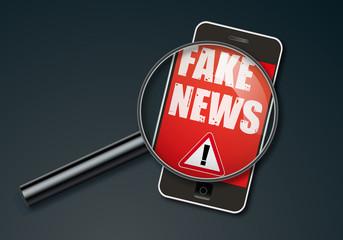 fake news - infos -information - mensonge - smartphone - faux - réseau social -mentir