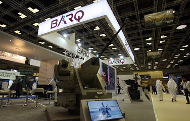 Weapon is seen during Doha International Maritime Defence Exhibition, in Doha