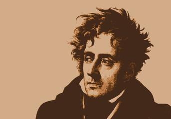 Chateaubriand - écrivain - portrait - personnage célèbre -  littérature - célèbre - romancier