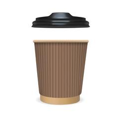 Mock up paper cup of coffee, tea, milk