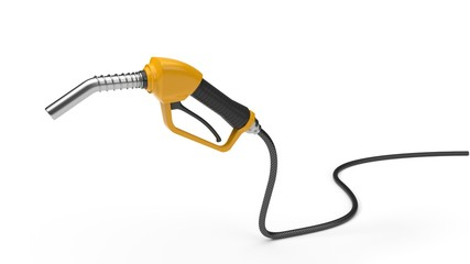 fuel nozzle illustration in 3d.