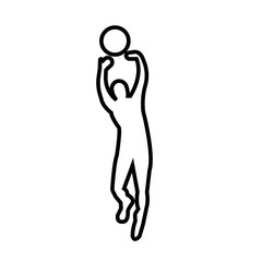 volleyball outline images on white background