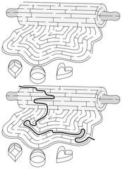 Cookie dough maze