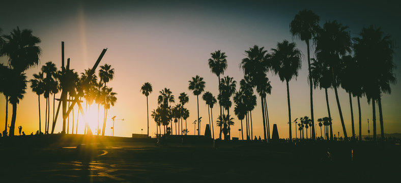 Venice Beach Sunset, Los Angeles California