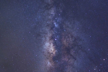 Clearly milky way galaxy with stars and space dust in the universe