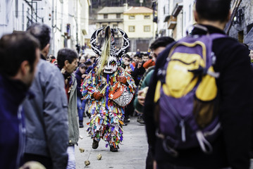 Jarramplas walks through the streets of Piornal