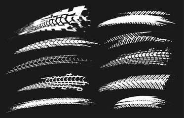 Tire Tracks Elements-03 Wall mural
