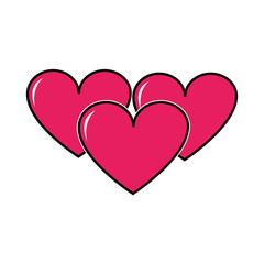 hearts love symbol of passion design icon